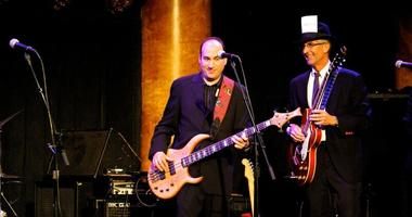 Doug Sovern and Stan Bunger on stage with the Eyewitness Blues Band