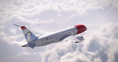 Norwegian Airlines created an image of pioneering gay rights politician Harvey Milk on one of its planes.