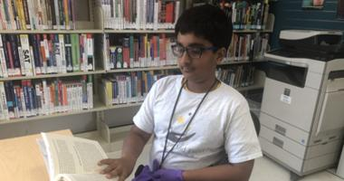 A new library branch opened in the Mt. Pleasant neighborhood of San Jose. Suraj, 11,  was one of the first visitors.