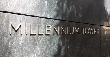 Millennium Tower sign