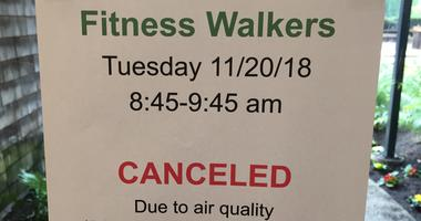 Canceled due to air quality poster