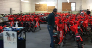 Some residents are complaining about a garage on Green Street in the Marina neighborhood of San Francisco where Uber sends e-bikes.