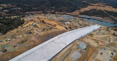 Work on the rebuilt Oroville Dam spillway is nearly complete two years after its failure forced 100,000 people to evacuate from their homes.