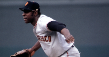 San Francisco Giants first baseman Willie McCovey in action at first base against the Pittsburgh Pirates at Forbes Field during the 1970 season.