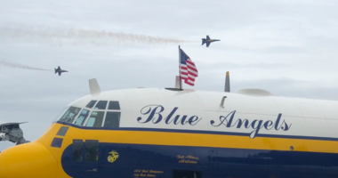 The Fat Albert C-130 plane has provided logistical support to the Blue Angels for decades.