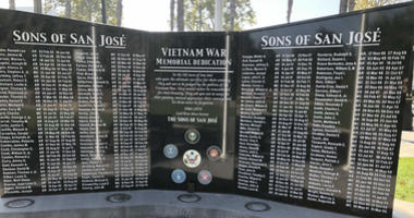 The Sons of San Jose memorial pays tribute to 142 service members killed in the Vietnam War.