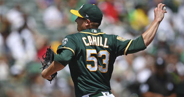 A's Beat Astros 7-1 To Tie For AL West Lead