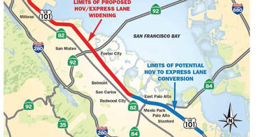 Caltrans proposes creating toll express lanes on a stretch of the 101 in San Mateo and Santa Clara counties.
