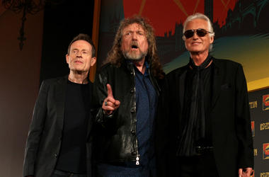 John Paul Jones, Robert Plant and Jimmy Page of Led Zeppelin in 2012