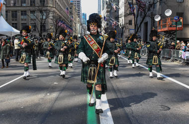Marchers in New York's St. Patrick's Day parade