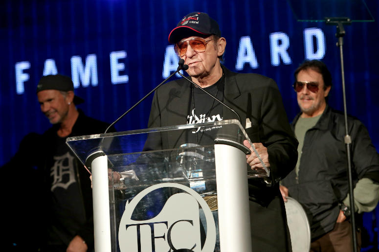 Drummer Hal Blaine attends the NAMM Tec Awards in 2014