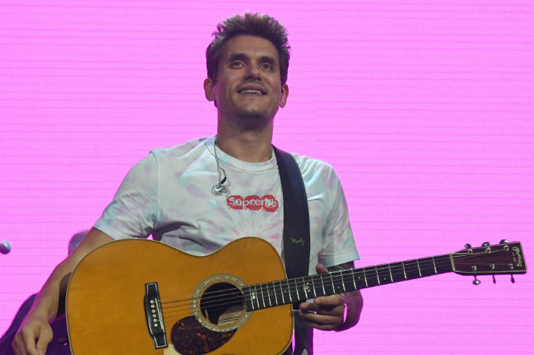 John Mayer performs during a stop of The Search for Everything World Tour at Talking Stick Resort Arena on August 1, 2017 in Phoenix, Arizona.