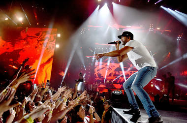 Country singer Luke Bryan performs onstage during the 'What Makes You Country' tour stop at Dodger Stadium on July 28, 2018 in Los Angeles, California.