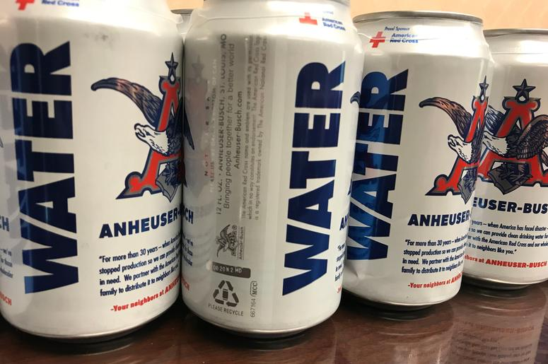 The Fort Collins Anheuser-Busch brewery can now produce cans of drinking water for emergencies.