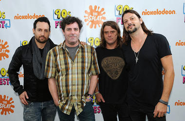 Sean Hurwitz, Paul De Lisle, Michael Klooster and Jason Sutter of Smash Mouth attend the Nickelodeon sponsored 90sFEST Pop Culture and Music Festival