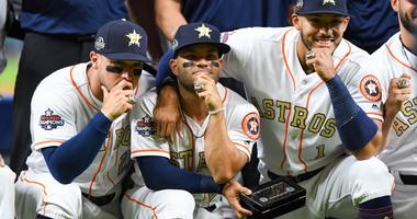 Breman, Altuve, Correa World Series Rings