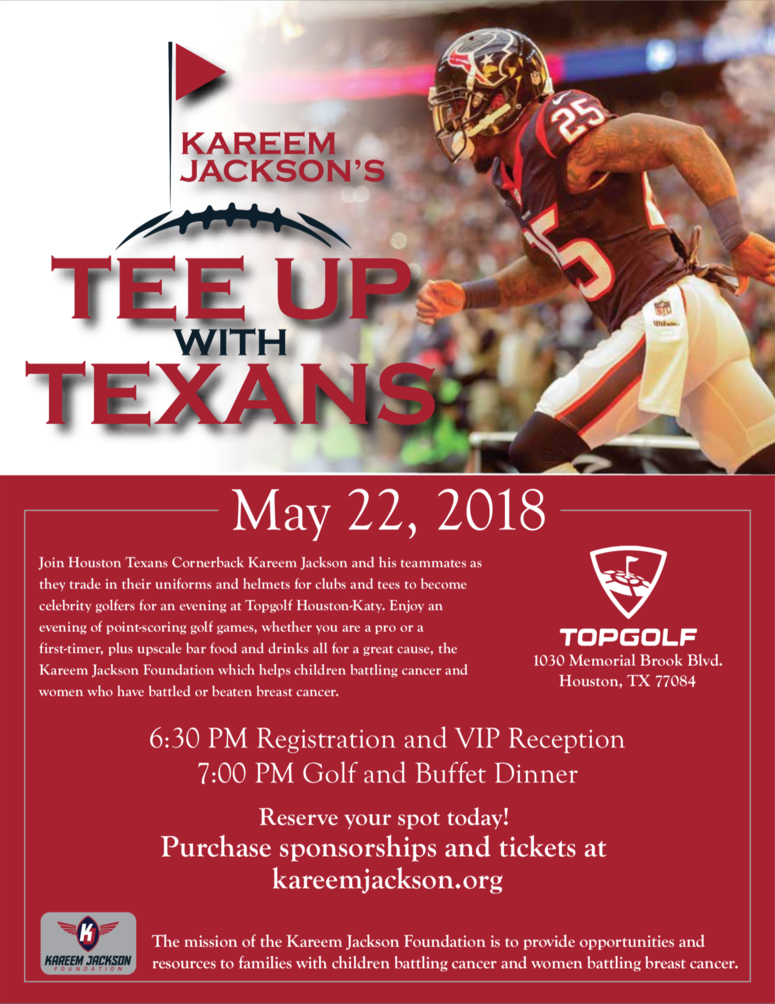 Kareem Jackson's Tee Up with Texans