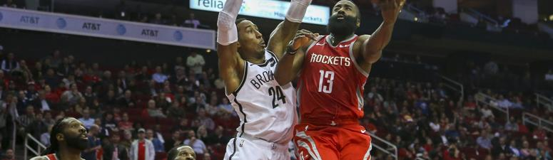 Despite Harden's 58 points, Rockets Fall To Nets In OT