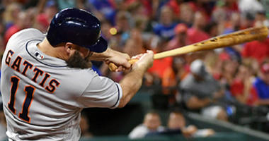 Gattis and Cole lead Astros past Rangers 5-2