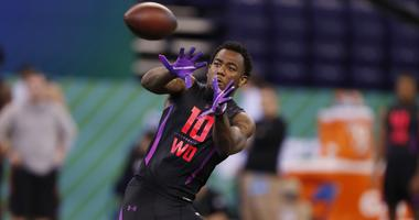 Keke Coutee at the NFL Combine