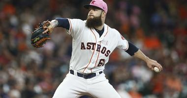 Dallas Keuchel pitches on Mother's Day
