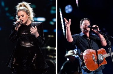 Kelly Clarkson and Blake Shelton