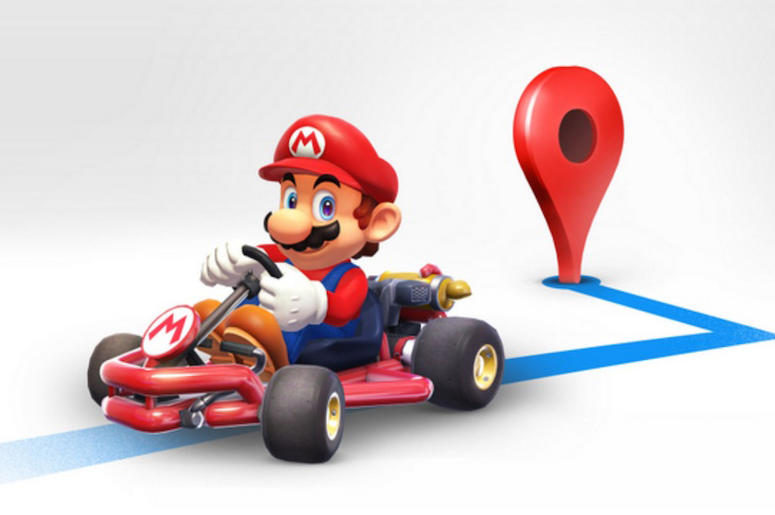 Mario on Google Maps