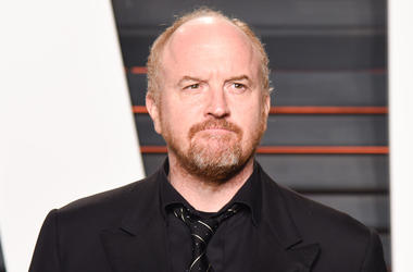 Louis CK arriving at the 2016 Vanity Fair Oscar Party hosted by Graydon Carter held at the Wallis Annenberg Center for the Performing Arts in Beverly Hills on February 28, 2016. (Photo by Anthony Behar)