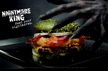Burger King's new 'Nightmare King' sandwich (Photo credit: Burger King)