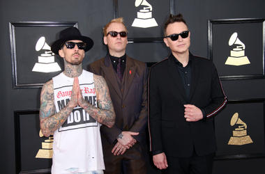 Blink-182 Arrive at the GRAMMYs