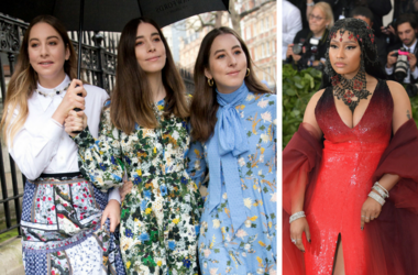 "Este Haim, Alana Haim, and Danielle Haim of HAIM arrive at the Erdem Autumn/Winter 2018 London Fashion Week show / icki Minaj. 2018 Metropolitan Museum of Art Costume Institute Gala: ""Heavenly Bodies: Fashion and the Catholic Imagination."