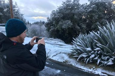 Santa Cruz Mountains Snow (Photo credit: Matt Bigler/KCBS Radio)