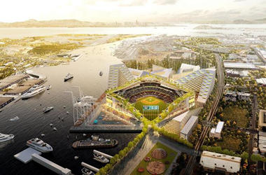 Proposed Oakland A's ballpark at Howard Terminal (Photo credit: Oakland Athletics)