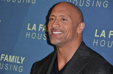 Dwayne Johnson arrives at the LA Family Housing Awards 2018 held at The Lot in West Hollywood, CA on Thursday, April 5, 2018. (Photo By Sthanlee B. Mirador/Sipa USA)