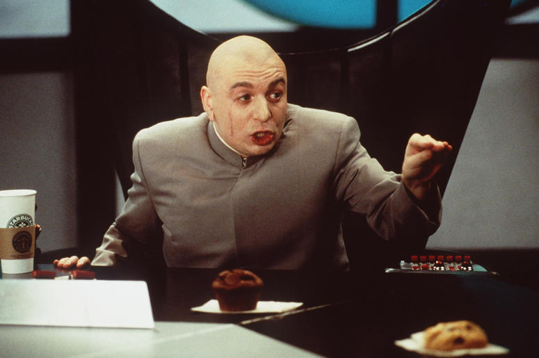 watch dr evil reveal his five point evil plan while taking over