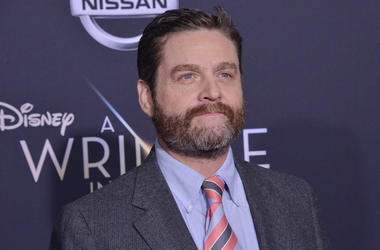 "Zach Galifianakis arrives at Disney's ""A Wrinkle In Time"" World Premiere"
