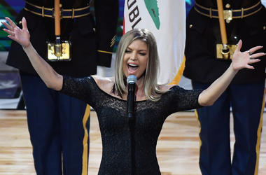 Fergie at NBA All-Star Game