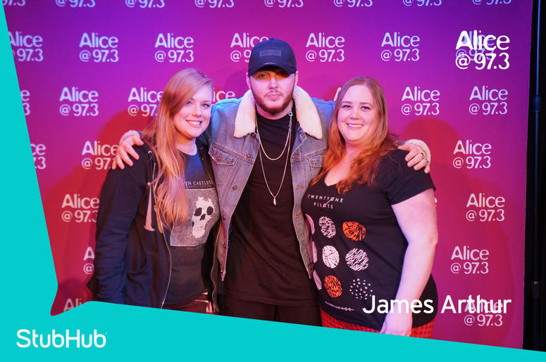 Photos james arthur meet n greet on the stubhub stage in the alice james arthur meet n greet on the stubhub stage in the alice lounge m4hsunfo