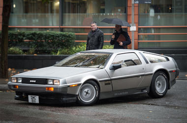 """File photo dated 21/10/15 of a DeLorean motor car, as a small number of the """"time machine"""" cars made famous by Back To The Future could be produced by next year, the DeLorean Motor Company said. (Photo by PA Images/Sipa USA)"""