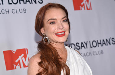 """Lindsay Lohan attends """"Lindsay Lohan Beach Club"""" event at the Magic Hour Rooftop at The Moxy Times Square, in New York, NY, January 7, 2019. (Photo by Anthony Behar/Sipa USA)"""