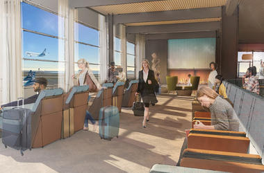 Alaska Airlines Guest Lounge (Photo credit: Alaska Airlines)