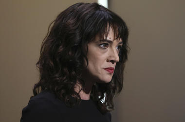 In this Saturday, May 19, 2018, file photo, actress Asia Argento speaks about being raped by Harvey Weinstein during the closing ceremony of the 71st international film festival, Cannes, southern France. The New York Times reports that Argento, one of the