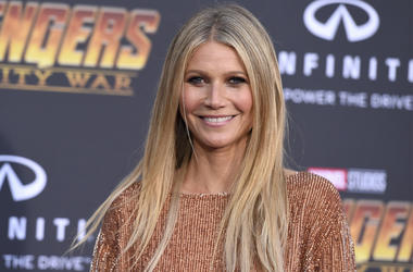 "In this April 23, 2018 file photo, Gwyneth Paltrow arrives at the world premiere of ""Avengers: Infinity War"" in Los Angeles. Paltrow denied Wednesday, Feb. 20, 2019, that she skied into a man who accused her in a lawsuit of seriously injuring him at a Uta"