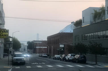 Smoke from Butte county fire covers the Bay Area  (Photo credit: Nic Palmer/KCBS Radio)