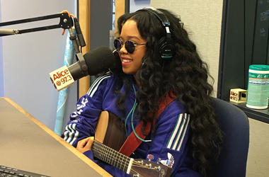 H.E.R. in the Alice studios