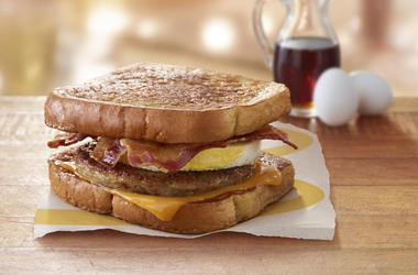 McDonald's McGriddles French Toast Breakfast Sandwich