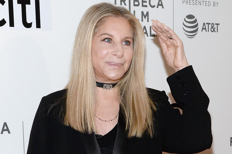 """Actress and singer Barbra Streisand walks the red carpet for """"Storytellers: Barbra Streisand with Robert Rodriguez"""" at BMCC Tribeca PAC in New York, NY, on April 29, 2017. (Photo by Anthony Behar)"""