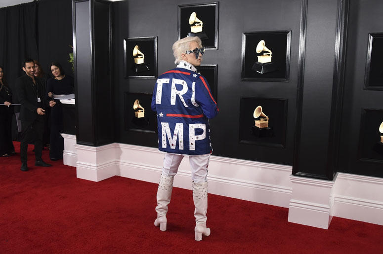 Ricky Rebel arrives at the 61st annual Grammy Awards
