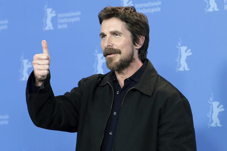 Actor Christian Bale poses for the photographers during a photo call for the film 'Vice' at the 2019 Berlinale Film Festival in Berlin, Germany, Monday, Feb. 11, 2019. (AP Photo/Michael Sohn)