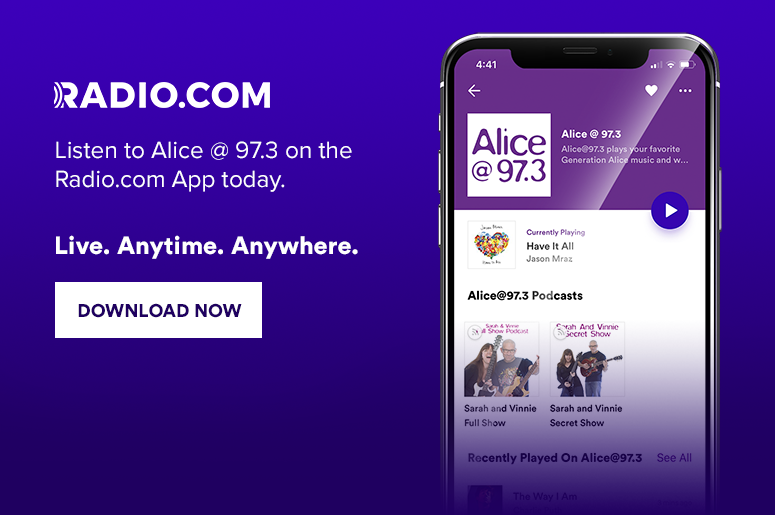 Alice @ 97.3 on the Radio.com App